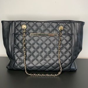 Missimo | black purse with cheetah lining